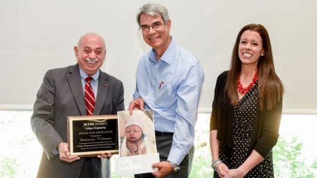 Williams Recognized with College's 2018 Award for Excellence
