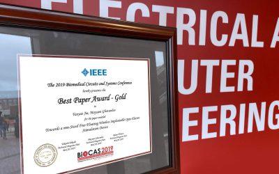 Yaoyao Jia Wins IEEE Best Paper Award